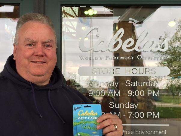 $500 Cabelas Gift Card Winner