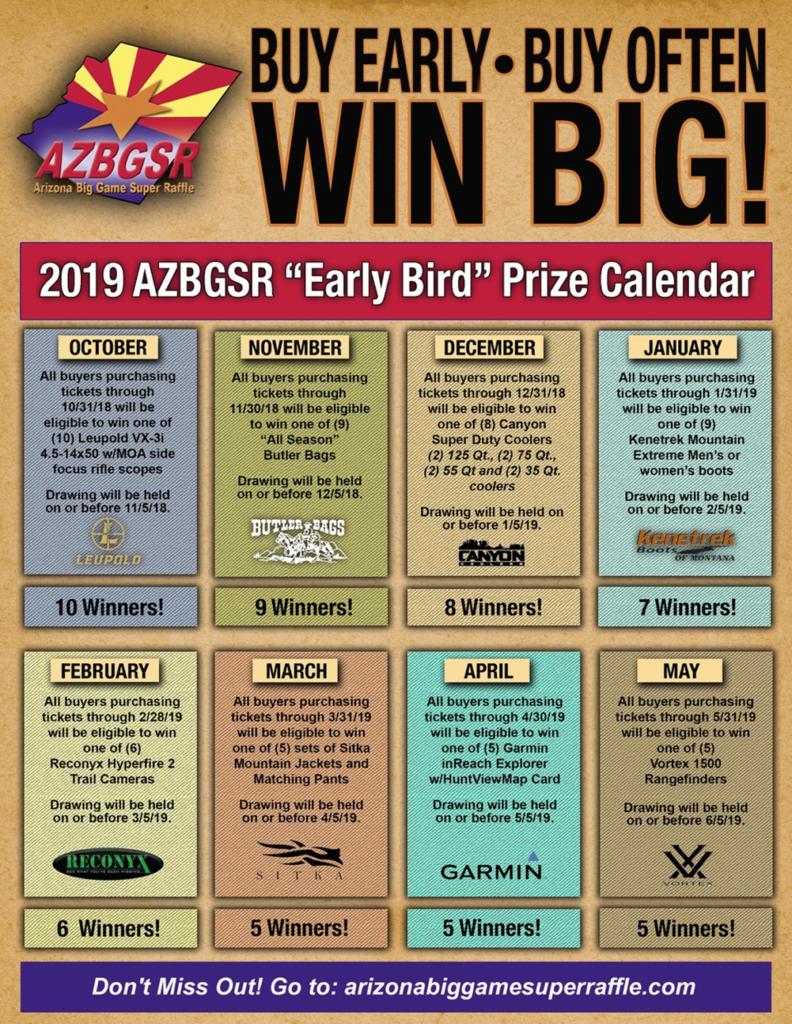 Bonus Prize Descriptions