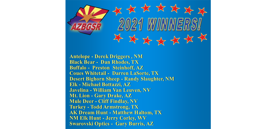 2021 Main Prize Winners