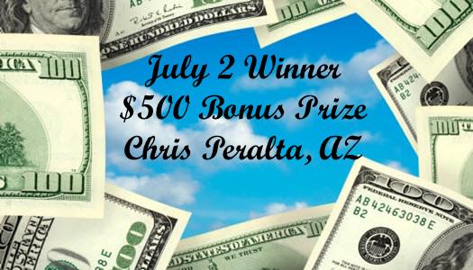 AZ Big Game Super Raffle July 2 2021 Bonus Prize Winner Pick