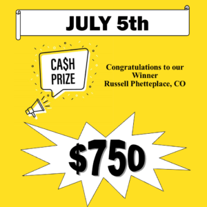 AZ Big Game Super Raffle July 5 2021 Cash Bonus Prize Winner